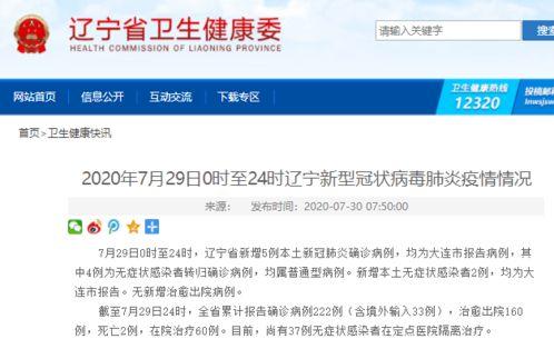 辽宁新增5例本土确诊无症状2例武汉北京大连,三地疫情发现同一问题