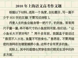 上海2010高考作文
