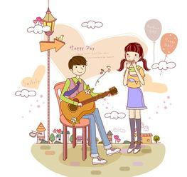 男生弹吉他跟女人少