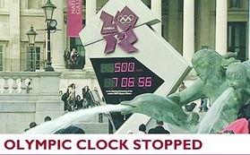 伦敦奥运会瑞士造钟停摆数小时 投入使用不满一天