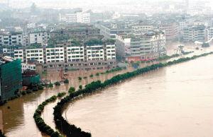 淮河发洪水 豫皖苏827万人遭灾