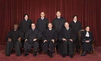 美国最高法院的九位大法官
