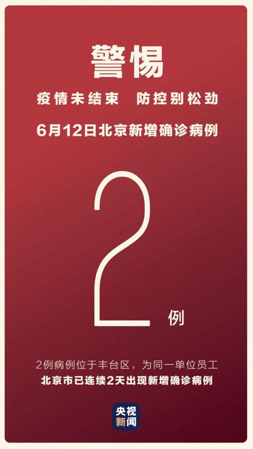 北京通报6月12日新增2例新冠肺炎确诊病例