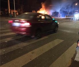 浦口面包车被撞起火3人身亡司机涉嫌醉驾被刑拘