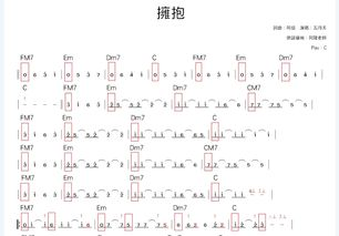 吉他指弹谱符号6