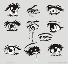 眼睛漫画图片
