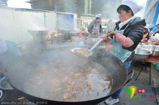 民企老板冬至 任性 大摆90桌请员工吃羊肉火锅 高清组图