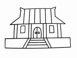 教你画小寺庙的简笔画教程