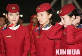 台商包机直航首日国航空姐。