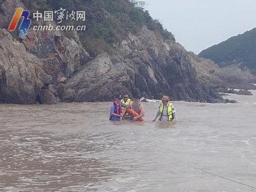救命突然涨潮,3人被困宁波一景区礁石上这个网红点事故频发
