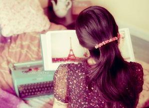 背影图片女生长发唯美小清新 用今天的努力让明天没有遗憾