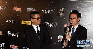 4月13日,梁乐民、陆剑青(右)凭借《寒战》获得最佳编剧奖.