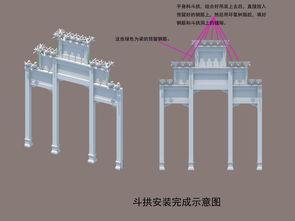 牌坊结构图设计图下载 图片0.49MB 其他库 单体模型