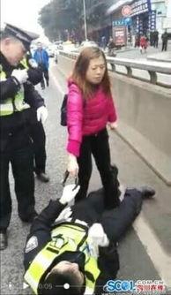 女司机砸晕协警女司机不满被扣证件挥铁锁砸晕协警图