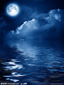 海上圆月夜图片