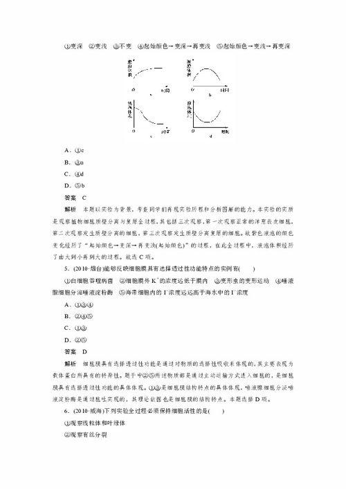物质跨膜运输的实例知识点提纲