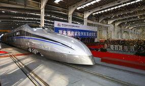 我国最新型试验列车 时速500公里