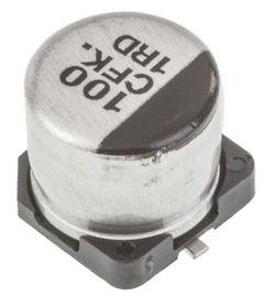 EEEFK1C101P Panasonic FK SMD 系列 16V dc 100μF SMD 铝电解电容器 EEEFK1C101P, 20 容差, 360mΩ 等值串联 Panasonic