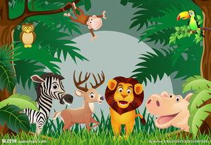 动物世界背景墙设计图
