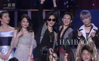 章子怡跟刘嘉玲站在一起