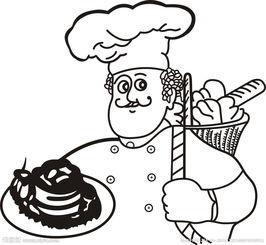 厨师卡通人物图片