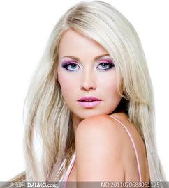 彩妆美女发型展示高清摄影图片