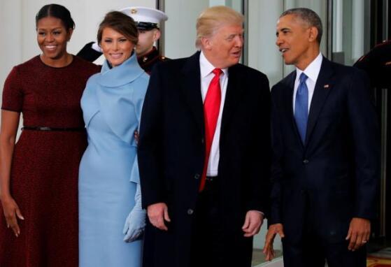 特朗普与奥巴马.