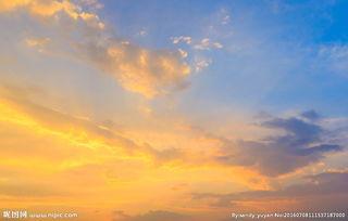 唯美黄昏天空景色图片