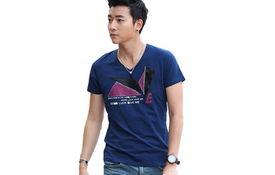 乐则行 时尚短袖T恤蓝色