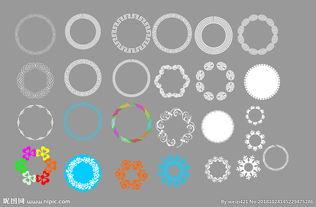 圆型花边 圆型边框图片