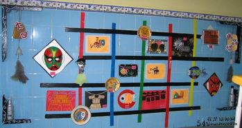 幼儿园墙面布置 幼儿作品展