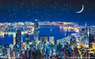 香港维多利亚城市夜景图片
