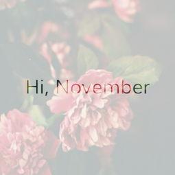 十一月你好的句子_十一月你好的句子图片