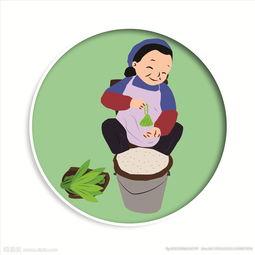 端午节卡通包粽子图片