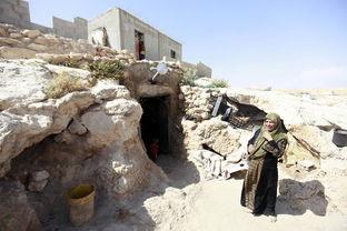 探访巴勒斯坦穴居部落 人与羊同吃同睡