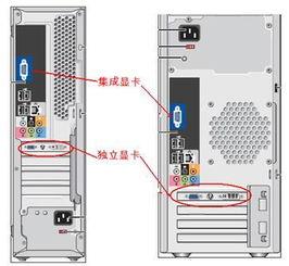 电脑主机显卡位置