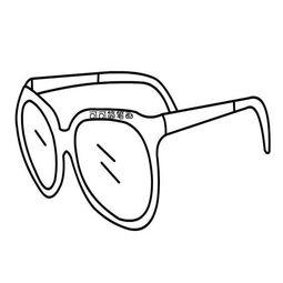 太阳眼镜简笔画