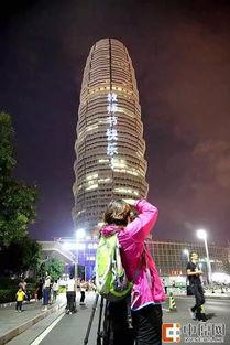 组图郑州地标大玉米教师节晚上亮起灯光