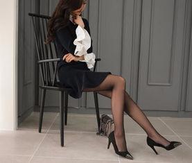 孙允珠高跟鞋黑丝袜个性超短裙,宛转蛾眉,霞光万道