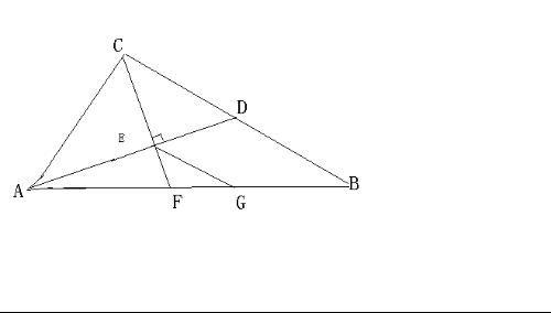 如图,在rt△abc中,∠acb=90°,ad平分∠cab交于点d,过点c作ce⊥ad于点e,ce的延长线交ab于点f,过点e作eg∥bc交ab于g,ae·ad=16,ab=4根号5,(1)求证:ce=ef;(2)求eg的长.