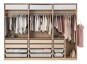 布衣柜俩边是挂衣服安装