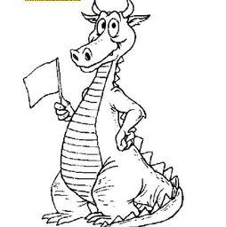 龙的简笔画 龙是原始人的图腾