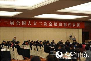 山东代表团审议全国人大常委会工作报告李建国出席