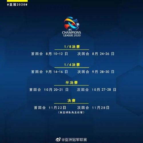 亚冠最新赛程。