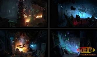 蝙蝠侠 阿甘起源 原画 蝙蝠洞与小丑的老窝 8