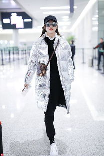 娱乐圈适合穿亮银色羽绒服的女明星杨紫唐嫣佟丽娅,谁最抢眼