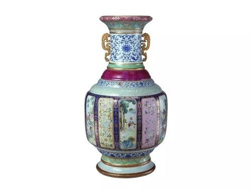 清乾隆瓷母各种釉彩大瓶-北京故宫