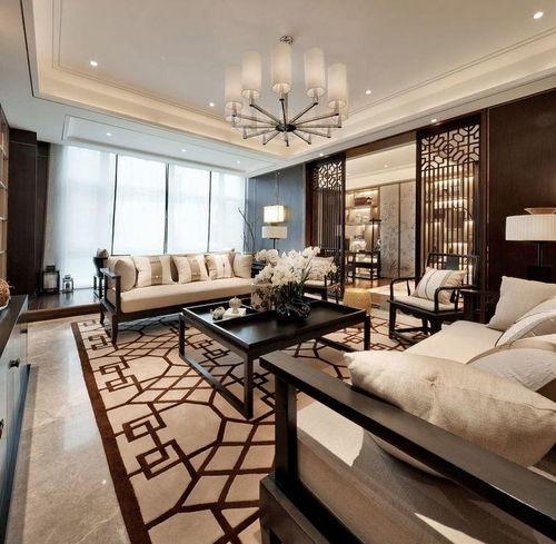 私享家中式风格-客厅设计图