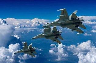 中国空军歼-16战机进行飞行训练.