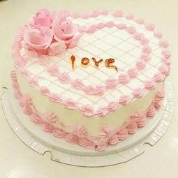 粉色的浪漫,生日蛋糕,奶油蛋糕 汨罗订花 千思语鲜花网